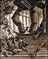 Samson Destroys the Temple (Gustave Dore)
